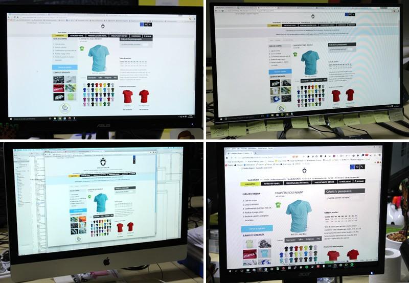 Diferencia color monitores