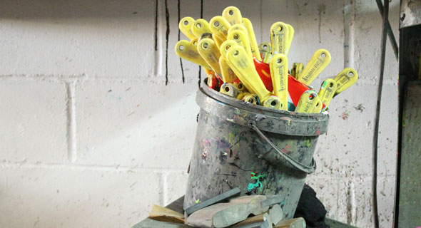 Reciclado utensilios serigrafia