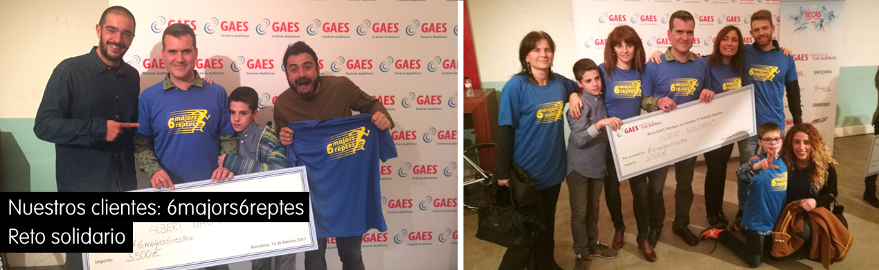 Camisetas solidarias para 6majors6reptes