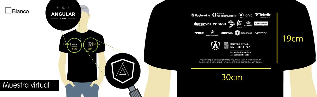 Muestra virtual de la camiseta personalizada para Angular Beers
