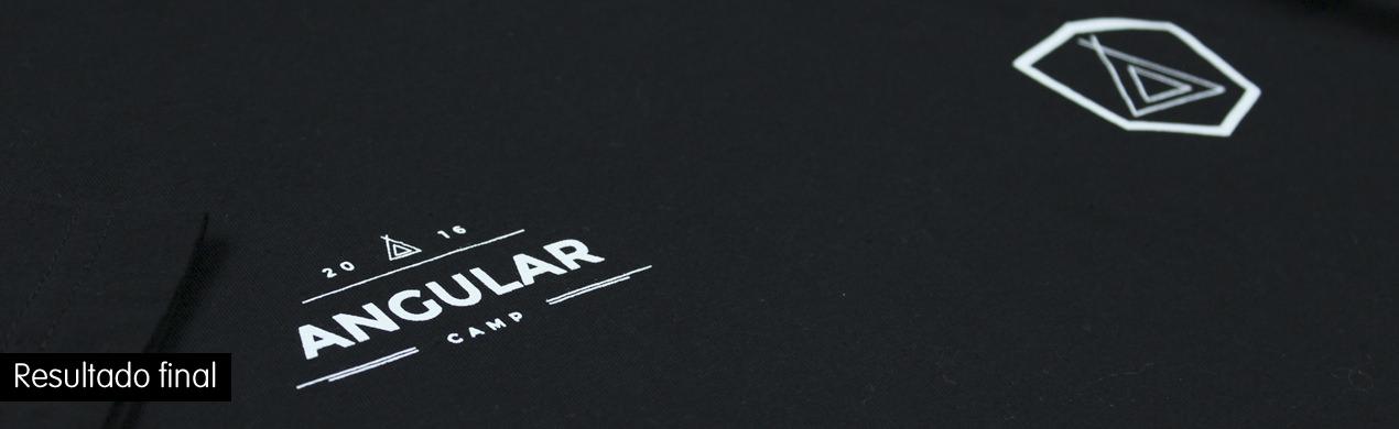Detalle de la serigrafía en la camiseta personalizada