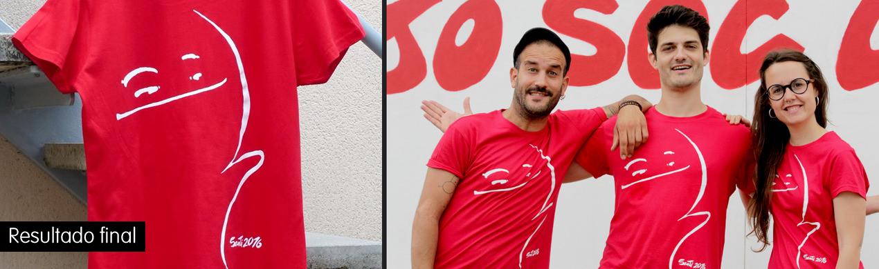 Camisetas serigrafiadas Projecte Santi