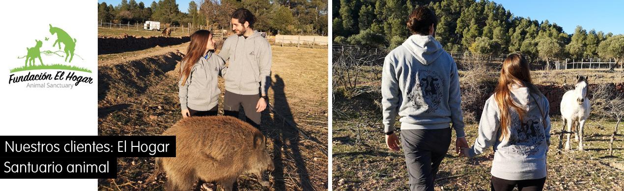Sudaderas personalizadas para santuarios animales