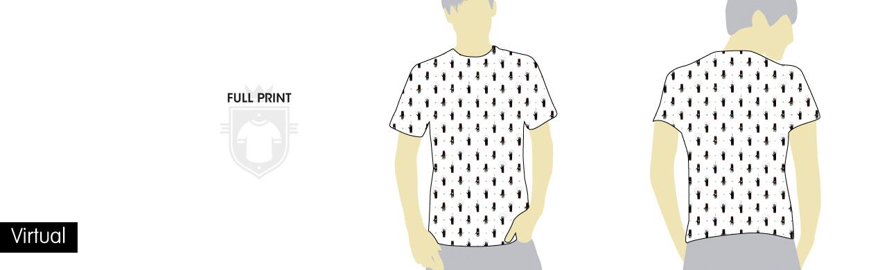 Virtual de camisetas full print