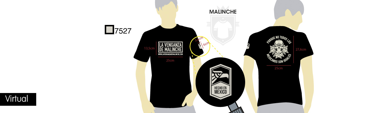 Virtual camisetas estampadas