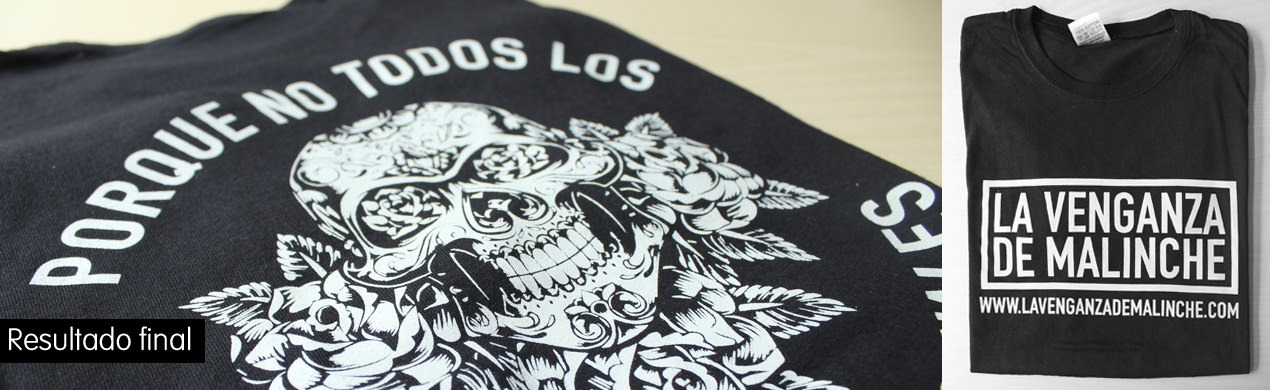 Camisetas negras personalizadas