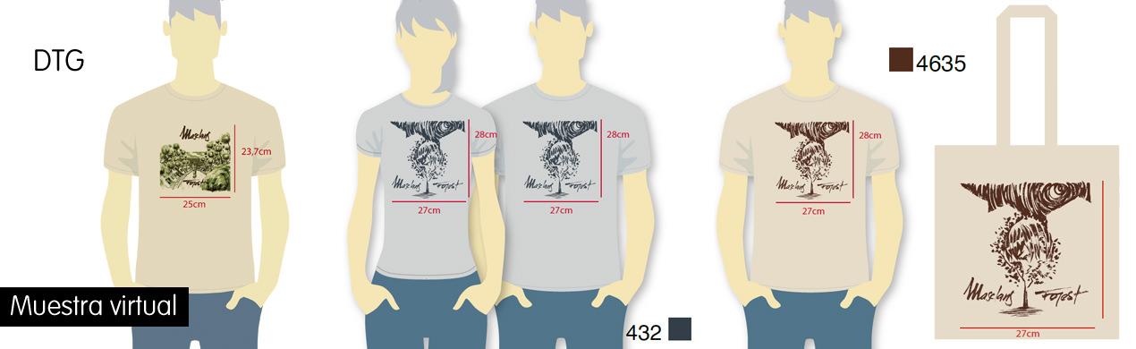 Camisetas personalizadas en DTG