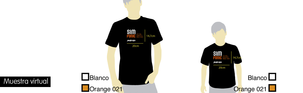 Muestra virtual de camisetas
