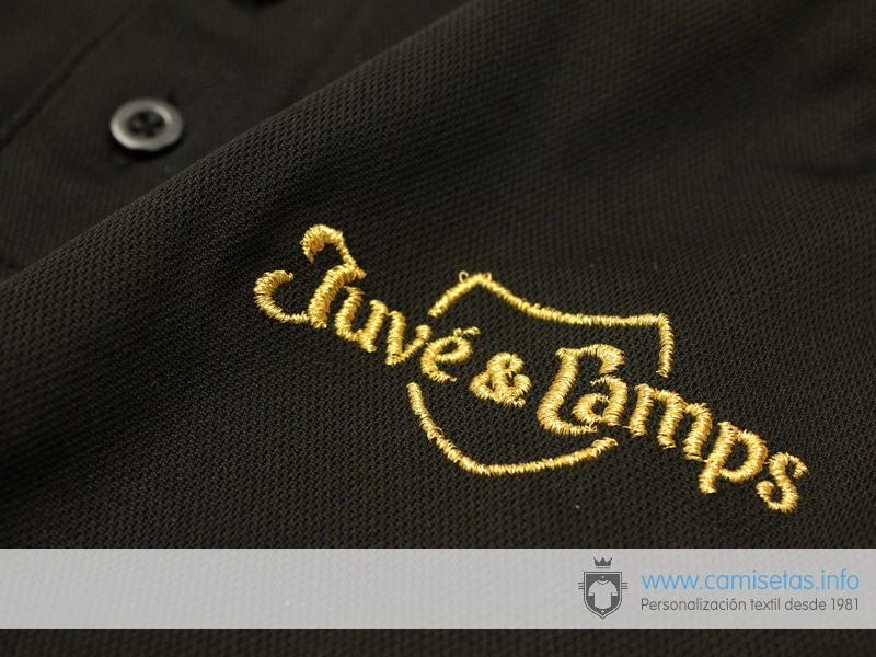 polo shirts with gold thread