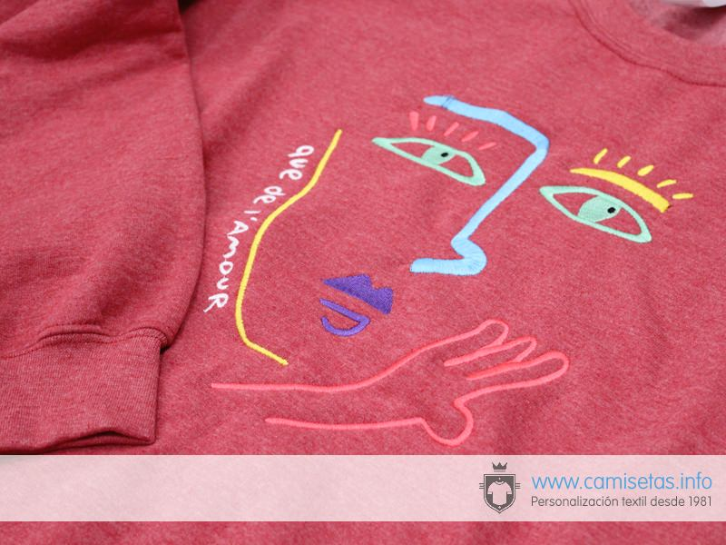 Embroider on sweatshirts