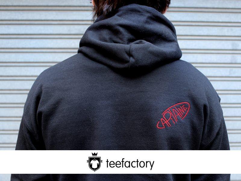 Embroidery back sweatshirts