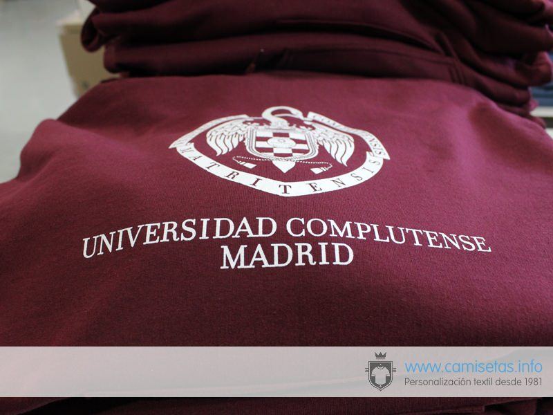 Example of ordering sweatshirts for the University of Madrid