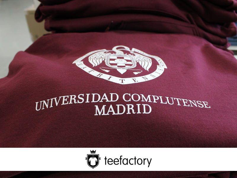 Ejemplo de pedido de sudaderas para Universidad de Madrid