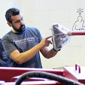 Entrevista a Pedro, responsable del taller de estampación