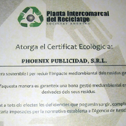 certificado ecologico teefactory pirsa